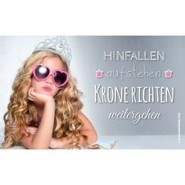 """Brettchen Prinzessin """"HINFALLEN aufstehen KRONE RICHTEN weitergehen"""""""