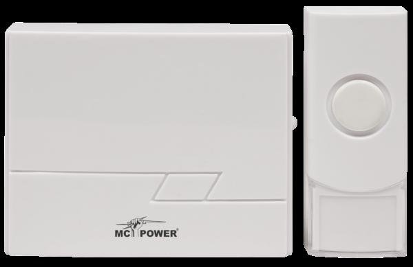 Funk-TŸürklingel McPower ''DB-16'' bis zu 50m, 16 Melodien, IP44 Sender