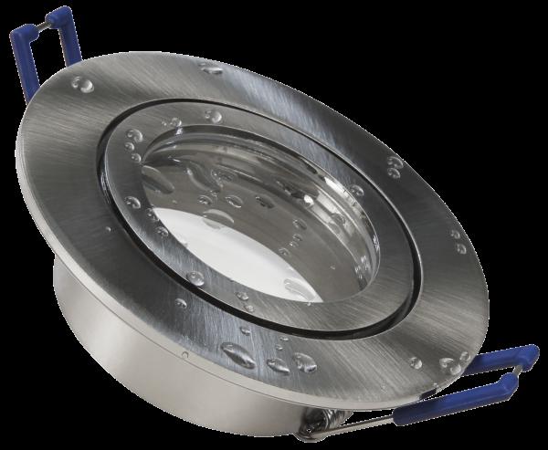 Einbaurahmen McShine ''DL-54'' rund, Clip-Verschluss, IP44, Edelstahl gebüŸrstet