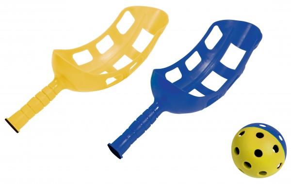 Hudora Fangballspiel Fanggriffe Fangball Spielzeug Fangballspiel Spiel NEW