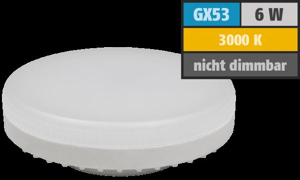 LED-Strahler McShine ''LS-653'', GX53, 6W, 580lm, Ø75x25mm, 120°, warmweiß