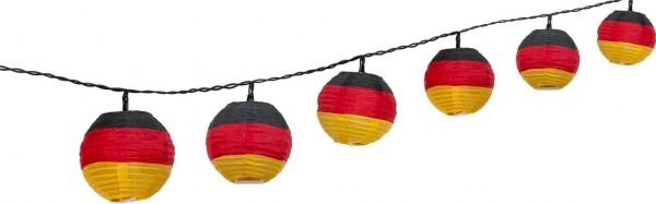 2 Stück LED Lichterketten weiße LEDs je 10er WM Handball Deutschland Garten inkl. Netzstecker