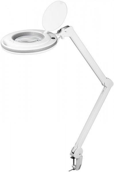 LED Lupenleuchte mit Tischklemme und Helligkeitsregelung dimmbar Lupenlampe