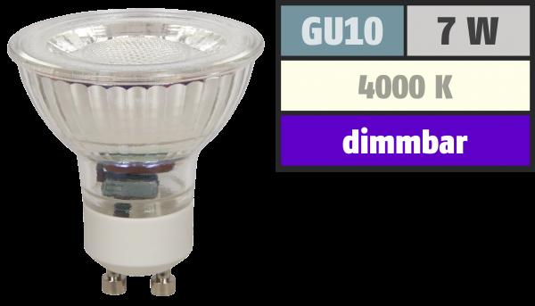 LED-Strahler McShine ''MCOB'' GU10, 7W, 450 lm, neutralweiß, dimmbar