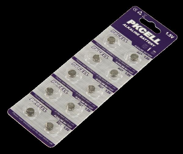 Knopfzelle McPower AG1, 6,8x2,1 mm, 1,5 V 10er-Pack auf Blister