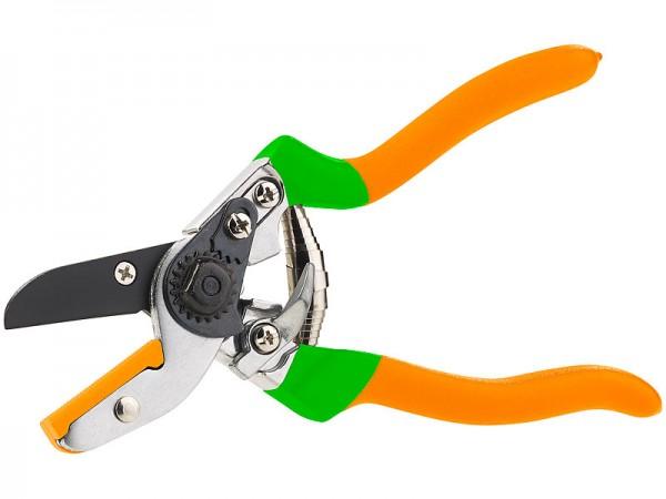 Amboss-Gartenschere, Carbonstahl-Klinge, ergonomischer Griff, 21,5 cm