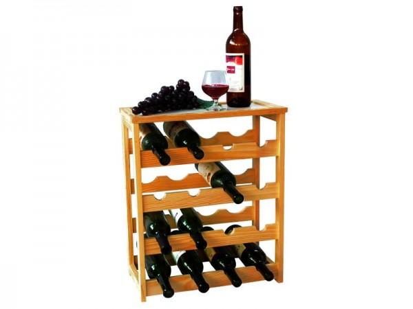 MK Bamboo GENEVE - Wein Ständer für 24 Flaschen