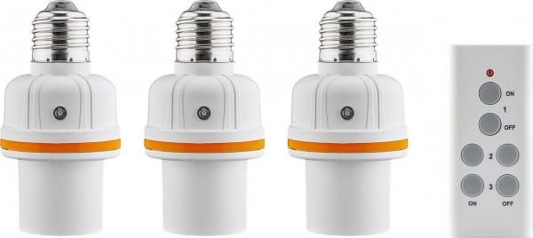 3er Set E27 Lampenfassung mit Fernbedienung Licht Lampe Funk Fassung Sockel E27