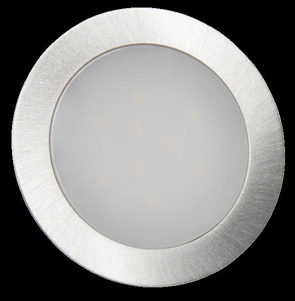 LED-Einbauleuchte McShine ''Fine'', 9 LEDs, wei§, 55mm-Ø, rund, Edelstahl
