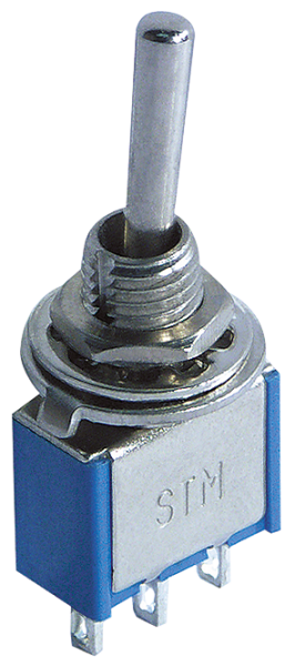 Miniatur-Kippschalter McPower, 250V/3A, 3-polig, 3 Stellungen: EIN / AUS / EIN