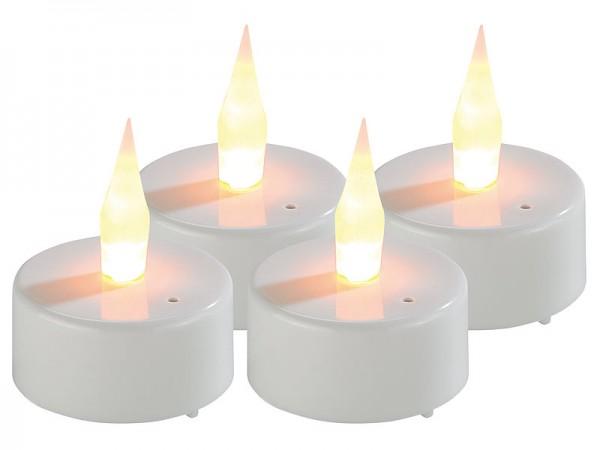 LED-Teelichter mit Luftzugsensor und beweglicher Flamme, 4er-Set
