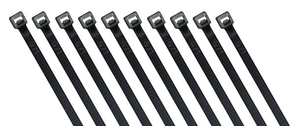Kabelbinder McPower, schwarz, 300x4,8 mm, 100er-Beutel