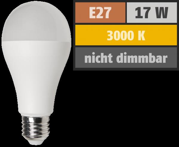 LED GlŸühlampe McShine, E27, 17W, 1.520 lm, 3000K, warmweiß