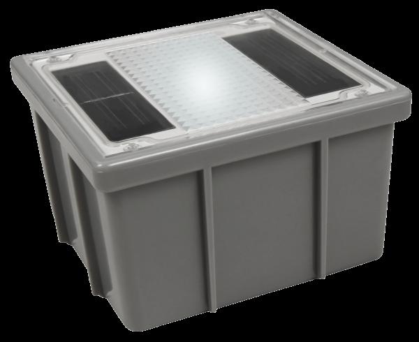 Solar LED-Bodenleuchte McShine ''Pflasterstein'' 10x10x6cm, IP68