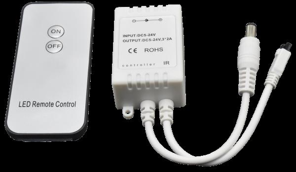 Controller füŸr LED Stripes, Ein/Aus, mit Fernbedienung