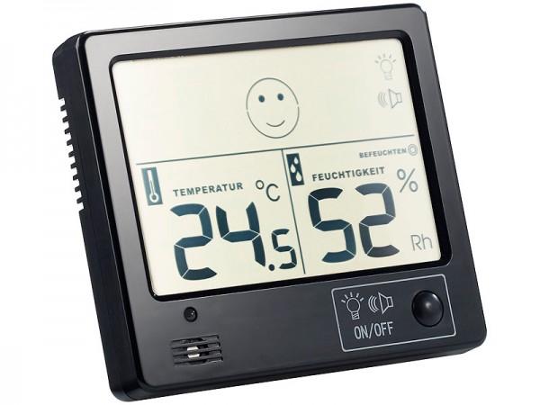 Raumklima-Thermometer mit Hygrometer mit Alarmfunktion