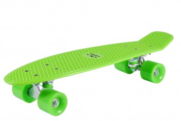 Hudora Retro Skateboard 57 x 15 cm (Rucksackfreundlich) Lemon Green