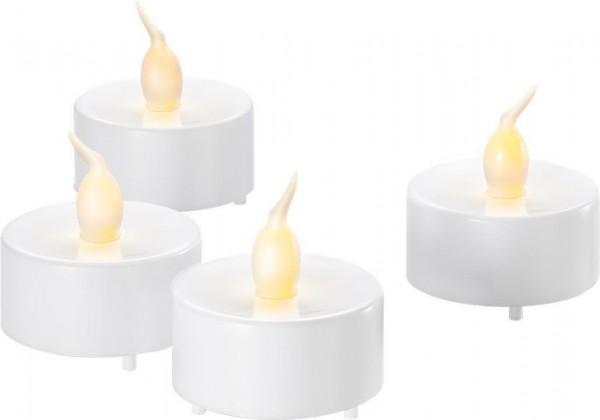 4er set led teelichter wei mit timer funktion ebay. Black Bedroom Furniture Sets. Home Design Ideas