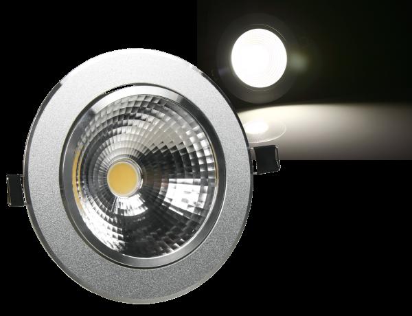 LED-Einbauleuchte McShine ''EL-10'', 10W COB, 780 lm, 137mm-Ø, warmweiß