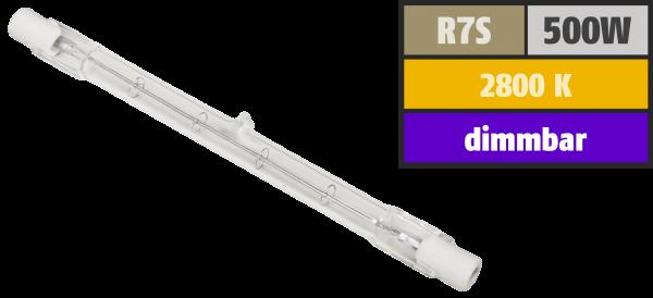 Halogen-Leuchtstab McShine, 230V / 500W, 118mm, Sockel R7s, 2.000h (fŸür Arbeitsleuchten)