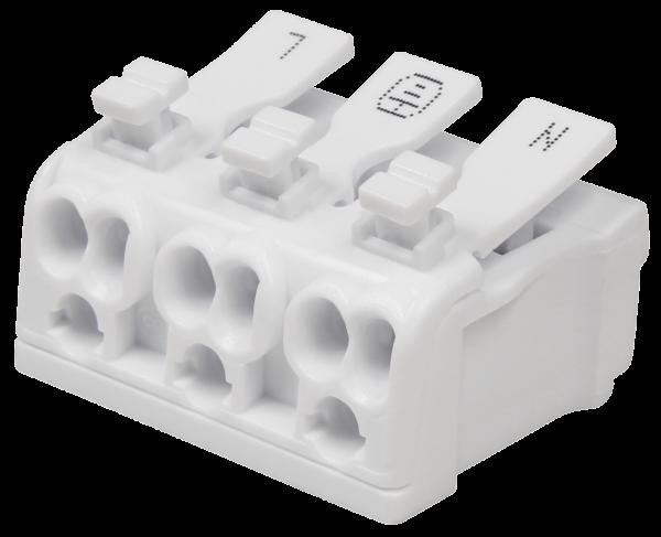 LŸüsterklemme McPower mit BetŠtigungshebel, 0,5-2,5mm ², max. 16A