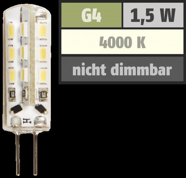 LED-Stiftsockellampe McShine ''Silicia'', G4, 1,5W, 120 lm, weiß