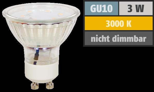LED-Strahler McShine ''ET10'', GU10, 3W, 250 lm, warmweiß