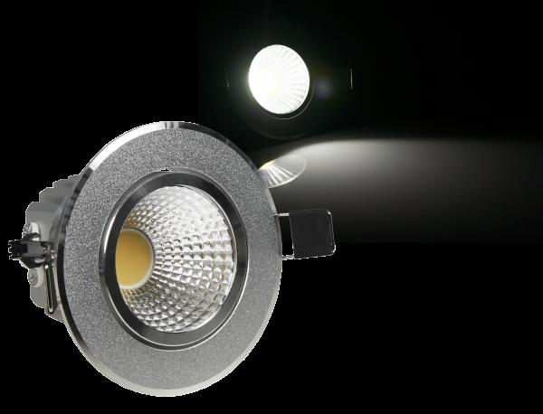 LED-Einbauleuchte McShine ''EL-3'', 3W COB, 240 lm, 86mm-Ø, warmweiß