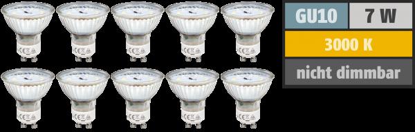 LED-Strahler McShine ''SP70-10'', GU10, 7W, 470 lm, warmweiß, 10er-Pack