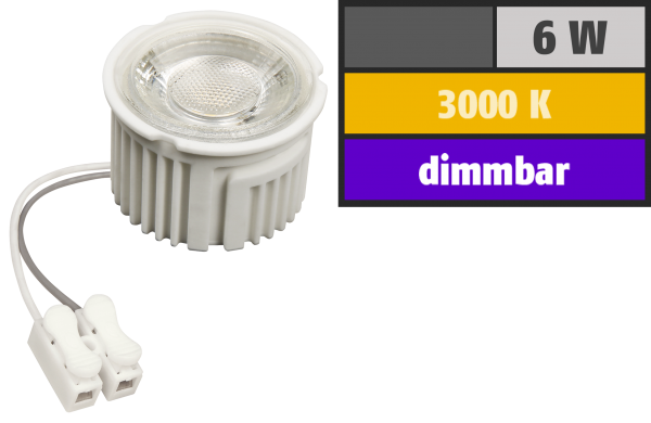 LED-Modul McShine ''MCOB'' 6W, 400lm, 230V, 50x33mm, warmweiß, 3000K, dimmbar