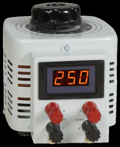 Ringkern-Stelltrafo McPower ''V-2000 LED'', 0-250 V, 2 A, 500 W, NICHT galvanisch getrennt