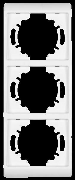 Abdeckrahmen ''ELEGANCE'', Unterputz, 3-fach, 80x215 mm, weiß