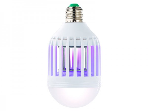2in1-UV-Insektenkiller und LED-Lampe, E27, 9 Watt, 550 Lumen, warmweiß