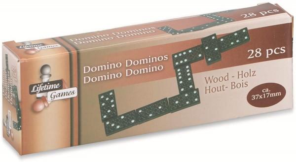 2x Dominosteine 28 teilig Game Dominoset Holz Steine Domino Spiel Schwarz Reisen