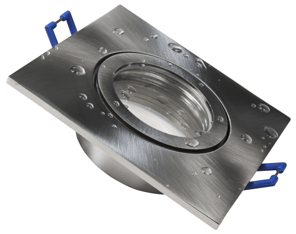 Einbaurahmen McShine ''DL-54'' eckig, Clip-Verschluss, IP44, Edelstahl gebŸürstet