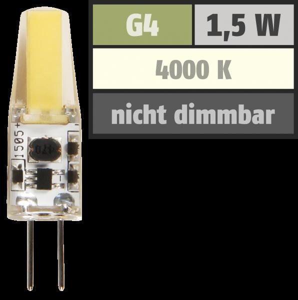 LED-Stiftsockellampe McShine ''Silicia COB'', G4, 1,5W, 200 lm, neutralweiß