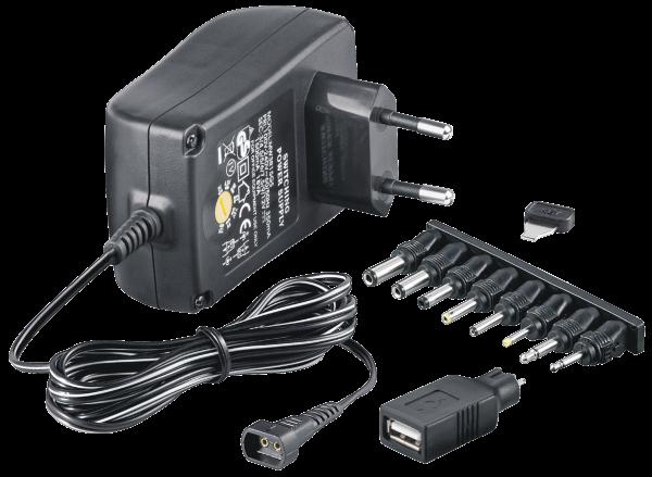 Universal 2250mA Netzteil 3 4,5V 5 6V 7,5V 9V 12V AC/DC +9 Adapter +USB Stecker