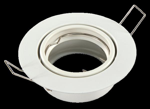 Einbaurahmen McShine ''DL-108'', weiß, 90mm-Ø, schwenkbar