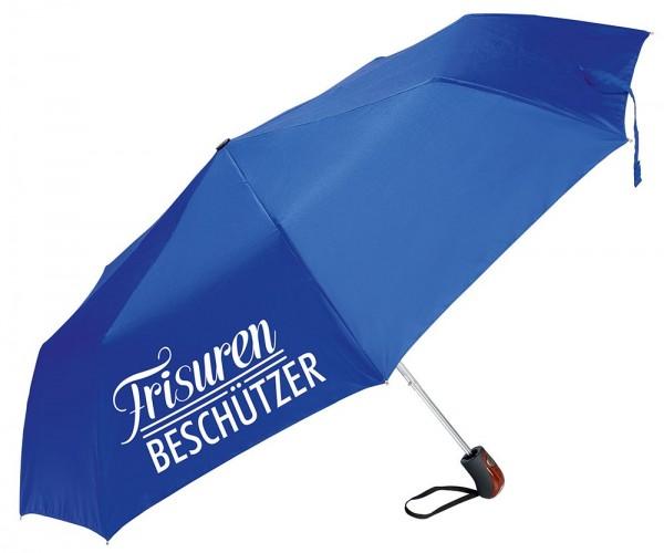 """Regenschirm """"Frisurenbeschützer"""", blau"""