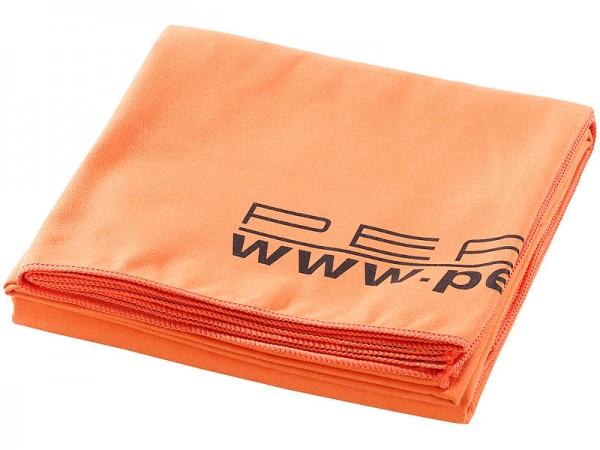 Extra saugfähiges Mikrofaser-Badetuch 180 x 90 cm, orange
