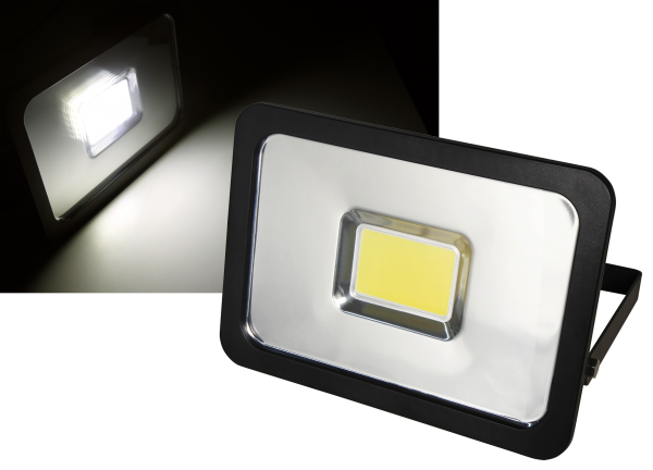 LED-Außenstrahler McShine ''Slim'' 50W, IP44, 3.750 lm, 3000K, warmweiß
