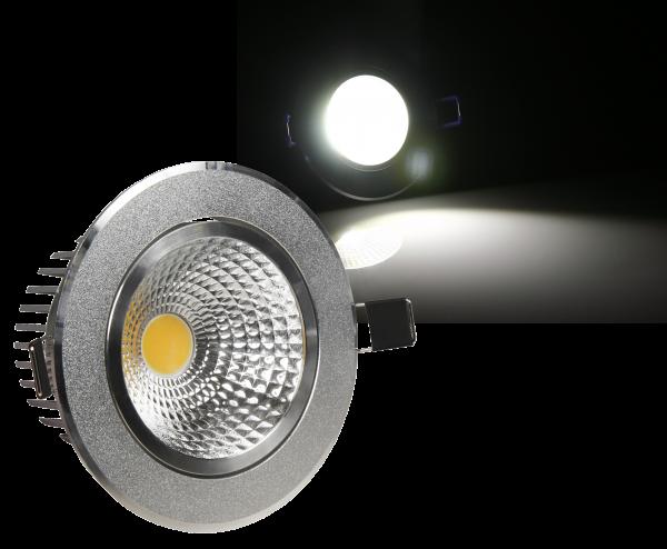 LED-Einbauleuchte McShine ''EL-5'', 5W COB, 390 lm, 86mm- Ø, warmweiß