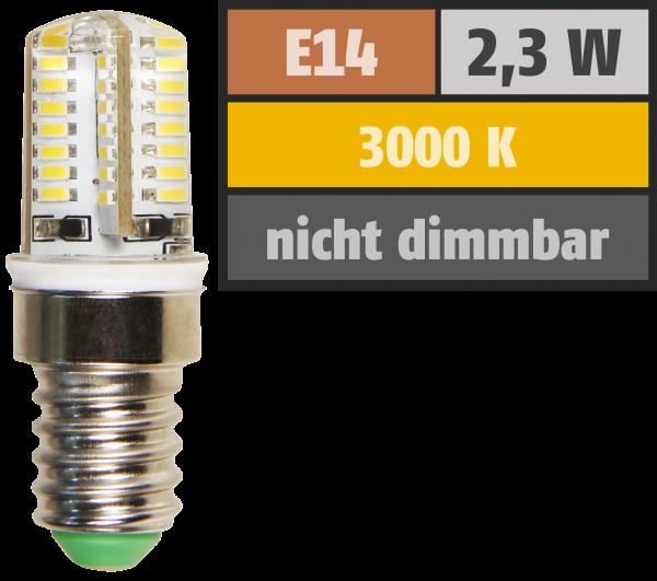 LED-Lampe McShine ''Silicia'', E14, 2,3W, 200 lm, warmweiß