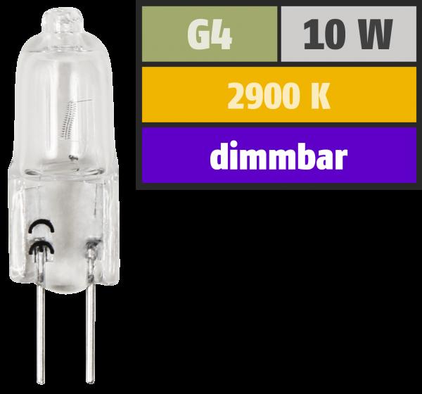 Halogen-Stiftsockellampe McShine, XENON, 12V/10W, Sockel G4, 2.000h
