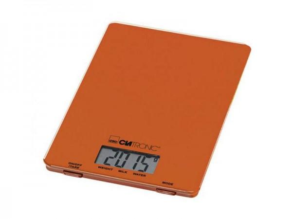 CLATRONIC KW 3626, Küchenwaage, 5 kg, Orange