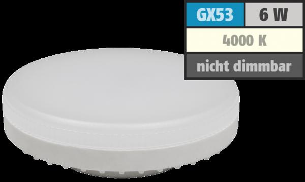 LED-Strahler McShine ''LS-653'', GX53, 6W, 580lm, Ø75x25mm, 120°, neutralweiß
