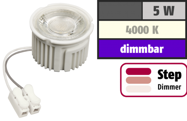 LED-Modul McShine ''MCOB'' 5W, 400lm, 230V, 50x33mm, neutralweiß, 4000K, step-dimmbar