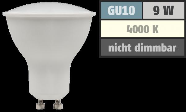 LED-Strahler McShine ''PV-90'' GU10, 9W, 900lm, 120°, 4000K, neutralweiß