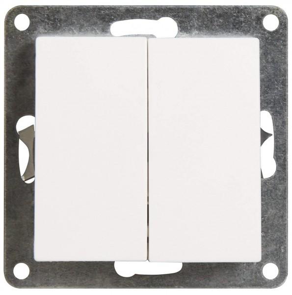 Wechselschalter McPower ''Flair'' 2-fach, 250V~/10A, UP, weiß
