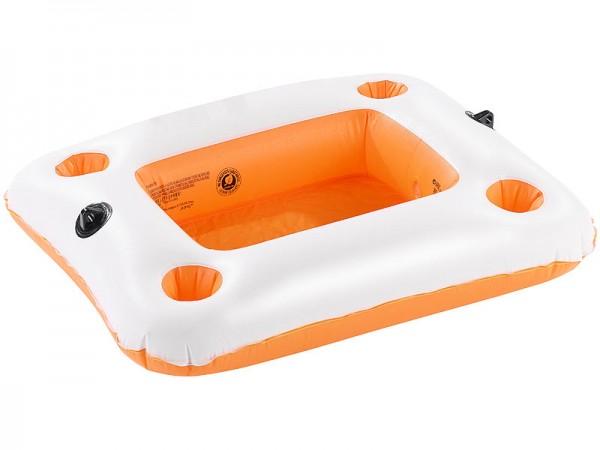 Aufblas-Bar: Schwimmender Getränkehalter, ideal für 2-Personen-Wassersofa